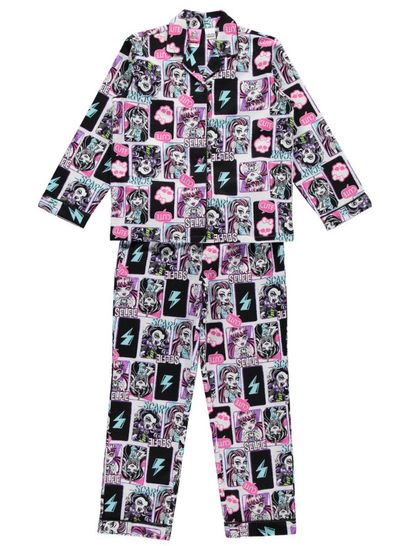 Girls Monster High Flannelette Pyjamas