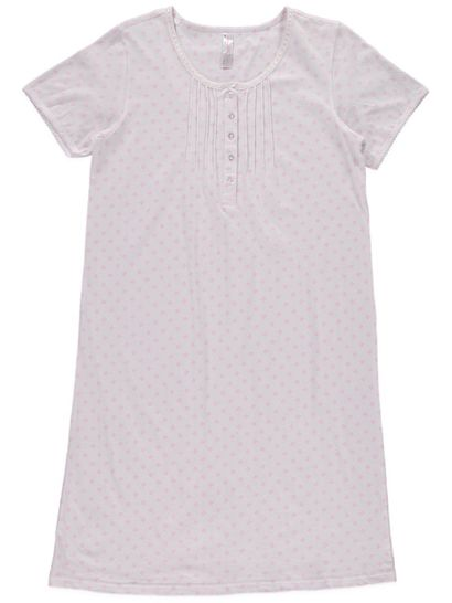Cotton Pintuck Nightie Womens Plus Sleepwear