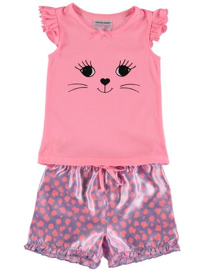Girls Knit Satin Pyjama