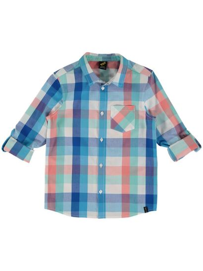Boys Check Ls Shirt