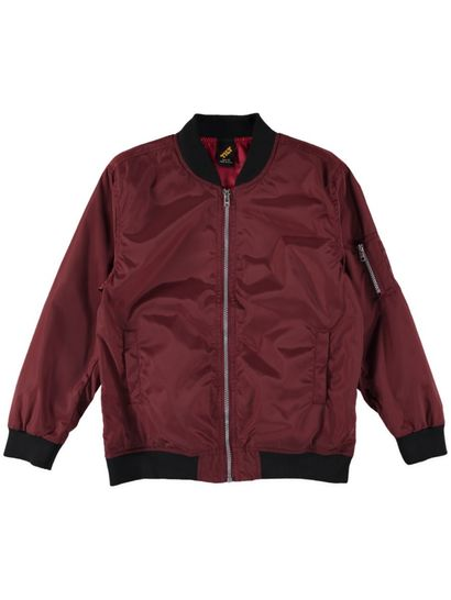 Boys Plain Bomber Jacket