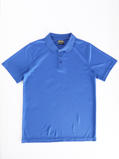 BLUE KIDS MESH POLO