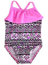 TODDLER GIRL 1 PIECE WITH FRONT RUFFLE