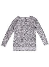 WOMENS PLUS L/SLV ANIMAL PRINT PULLOVER