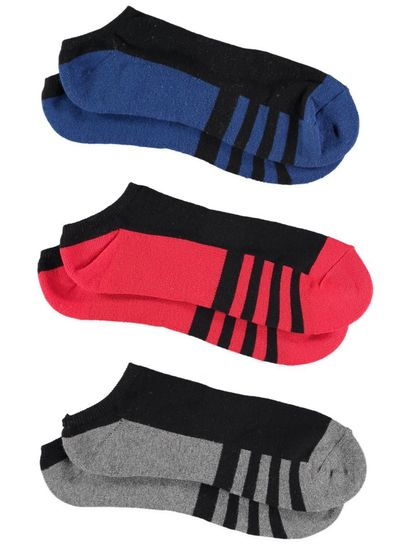 UNDERWORKS 3PK LOW CUT SOCKS BLACK