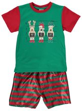 Boys  Knit Satin Christmas Pyjama