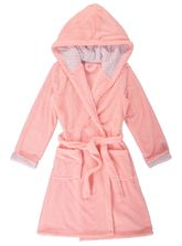 Coral Fleece Hooded Dressig Gown Womens