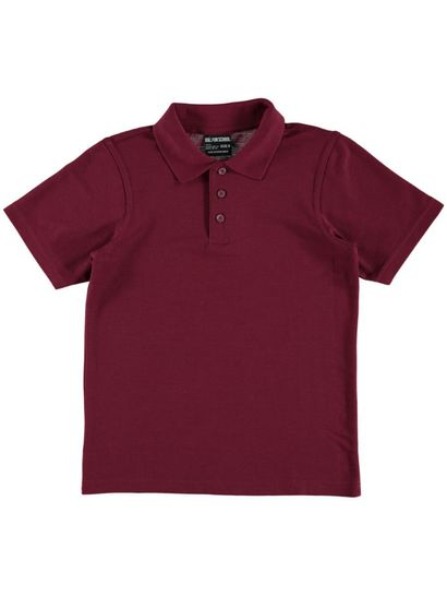 MAROON KIDS POLO