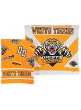 2Pk Tigers Velour Tea Towel