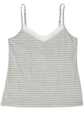 KNIT SHELF CAMI WITH ADJUSTABLE STRAPS