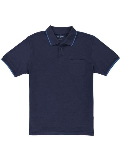 Mens Textured Polo