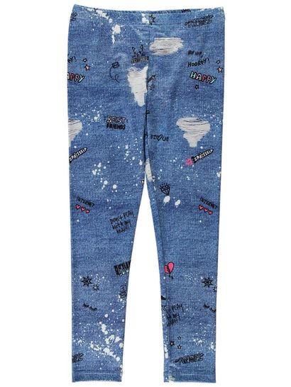 Girls Graffiti Print Legging