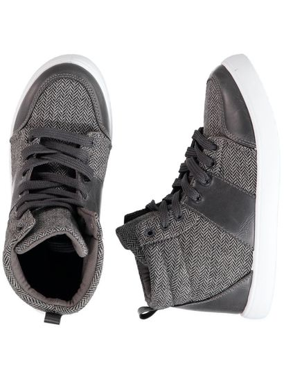 Boy Grey Hi-Top Trainer