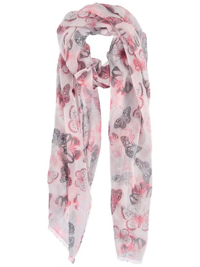 Womens Butterfly Print Scarf