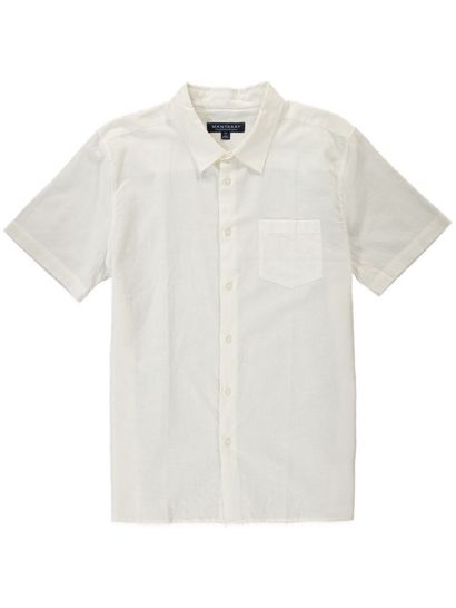 MENS SHORT SLEEVE COTTON LINEN SHIRT