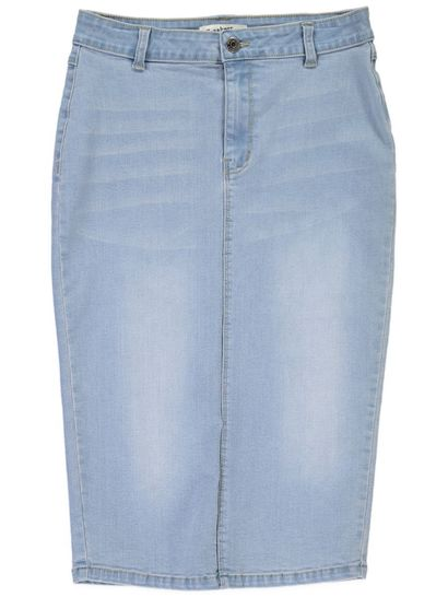 Miss Mango Denim Pencil Skirt