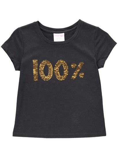 Girls Knit Sequin Tee