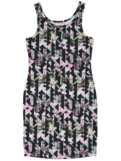 Girls Knit Print Dress