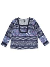 WP LACE PAISLEY PEASNA TOP WOMENS PLUS