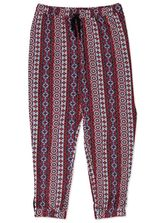 PLUS PRINTED KNIT PANT WOMENS