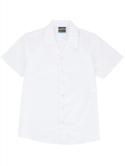 WHITE BOYS SHORT SLEEVE LAY BACK SHIRT
