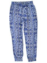 PLUS PRINTED TIE WAIST PANT WOMENS