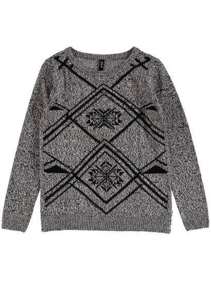Jaquard Pullover Womens