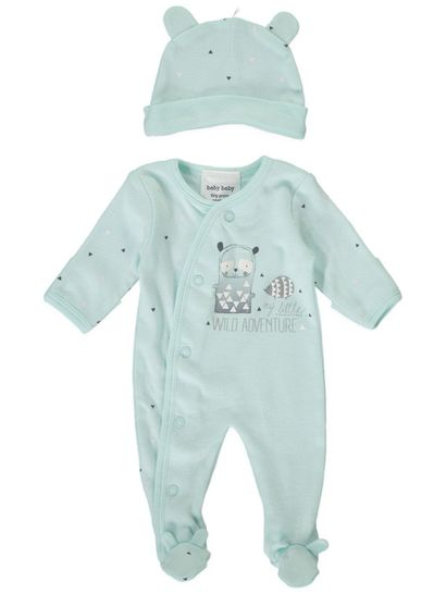 BABY ROMPER AND HAT