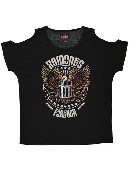 LADIES RAMONES SHOULDER TEE