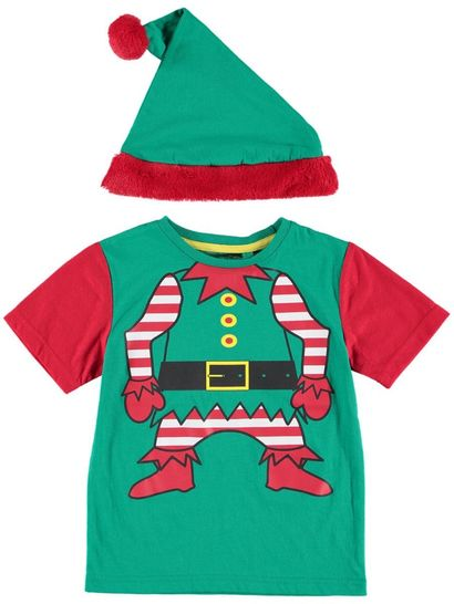 Boys Xmas T-Shirt & Hat Set