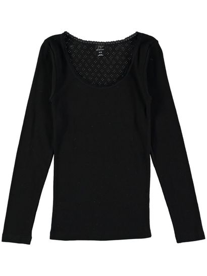 Thermal Long Sleeve Top Pointelle Womens