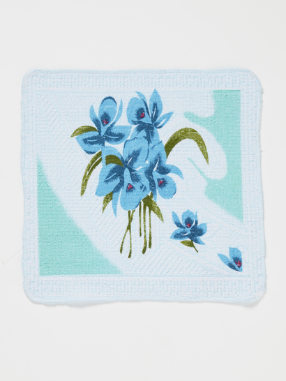 Printed Jacquard Iris Facewasher