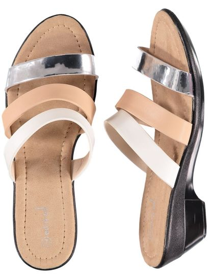 Womens Multi Strap Wedge