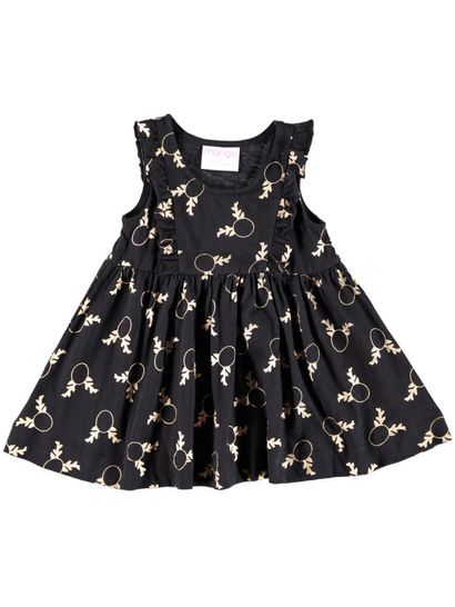 Toddler Girls Ruffle Knit Dress