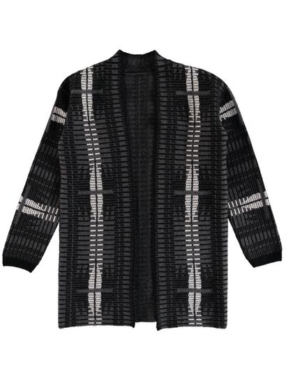 Plus Jaquard Cardigan Womens