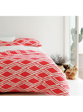 QUEEN BED PRINTED QUILT COVER SET
