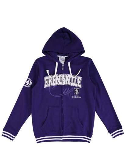Afl Mens Fleece Zip Hoodie