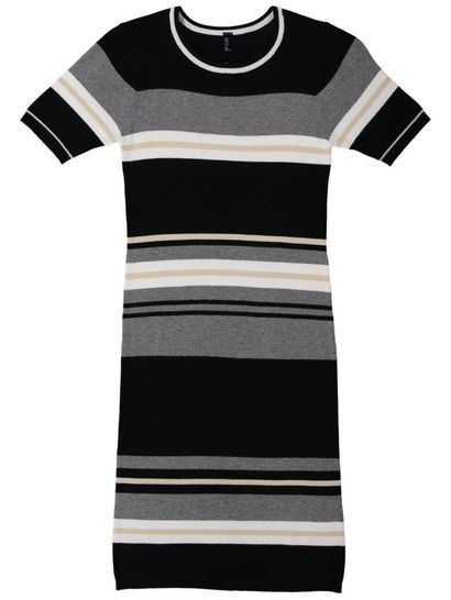 Womens Stripe Rib Dress