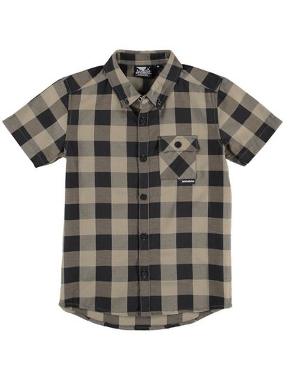 Boys Bad Boy Ss Check Shirt