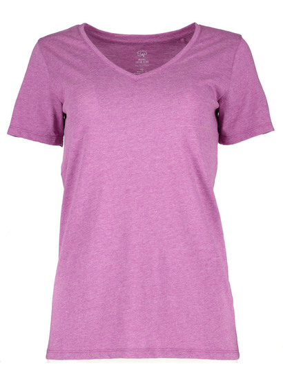 WOMENS PLUS ORGANIC COTTON BLEND SHORT SLEEVE TEE