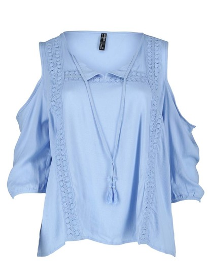 Plus Cold Shlace Gypsy Womens