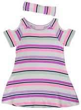 TODDLER GIRLS CUTOUT SHOULER DRESS