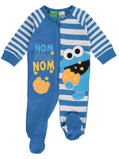 Baby Romper Cookie Monster