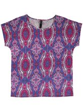PLUS ALLOVER PRINT TEE WOMENS