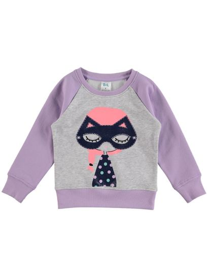 Toddler Girls Print Front Sweat