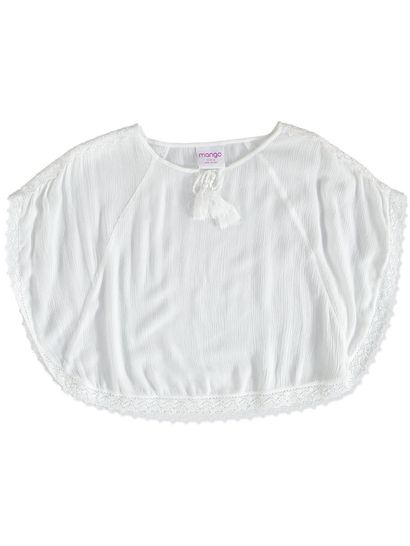 GIRLS PLAIN WOVEN TOP