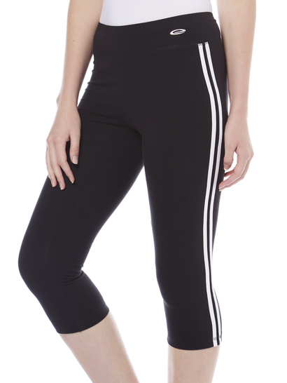 LADIES ACTIVE SIDE STRIPE CROP