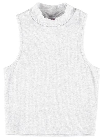 Girls Rib Crop Tank