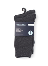 MENS 2PK BUSINESS SOCKS
