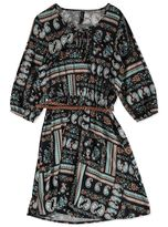 PLUS BELTED PRINTED SHIRT DRESS WOMENS